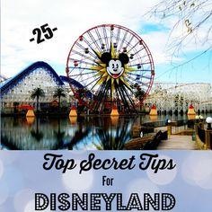 25 Top Secret Tips For Disneyland - Twenty-five top secret tips to make Disneyland even more fun!