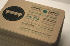 Postcard Wedding Invite by Nicole Standard, via Behance