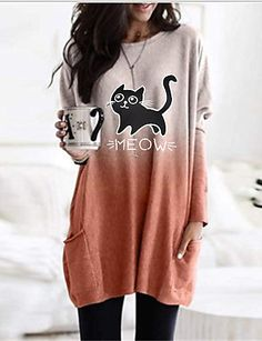 Necklines For Dresses, Types Of Dresses, Daily Dress, Knee Length Dresses, Casual Fall, Blouses For Women, Pink Grey, Long Sleeve, Online Shopping