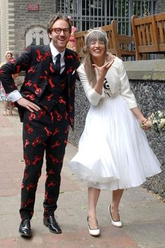 CharloteGoldsmith, the daughter of the late James Goldsmith married designer Philip Colbert in East London. June 2013.