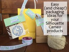 Easy (and cheap!) packaging ideas for your Silhouette Cameo Products by cuttingforbusiness.com