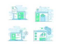 Employee, Target, Connect and Scale by Aleksandar Savic - Dribbble