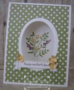 Hello there and welcome back for the Stamp It Group's blog hop ~ Mother's Day! Today I'm sharing my simple mother's day card, inspired by Dawn Olchefske! For the front over, I used the…