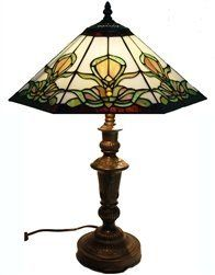 Buy this gorgeous Roma Handcrafted Stained Glass Tiffany Style Table Lamp by Amora Lighting, $165.00 from Amazon