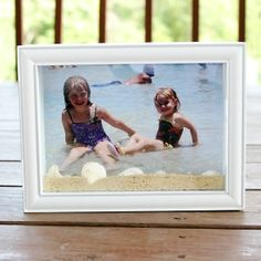 This Beach Shadow Box is a great way to remember your Vacation!