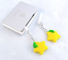 BFF Kingdom Hearts Paopu Fruit Dust Plug Charms, 2 For You & A Friend, For iPhone or iPod, Cute, Kawaii :D
