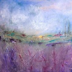 "Abstract Artists International: Abstract Landscape Art Painting ""Provence"" by Contemporary Artist Lee Canalizo"