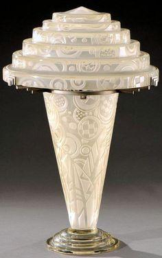 Lovely Art D co Lampe Andr Delatte Vers