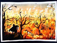 Fire Beneath Me #manga #anime #mangadraw #animedraw #fire #forest #burning #shadow