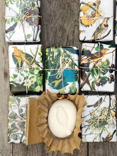 How to make goat's milk soap, and package it up for a pretty #present!    #crafts #gifts