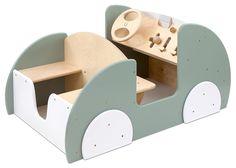 Betzold Spielauto Indoor, Krippe, Kindergarten, Holz-Auto, Spielzeugauto, 55 x 113 x 74 cm, für bis zu 6 Kinder, drehbares Lenkrad, inkl. Aufbauanleitung: Amazon.de: Spielzeug