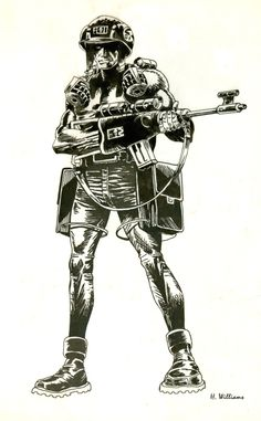 Rogue Trooper by 12jack12.deviantart.com Comic Books Art, Comic Art, Book Art, Judge Dread, 2000ad Comic, Future Soldier, Cowboy Bebop, Sci Fi Art, Dieselpunk