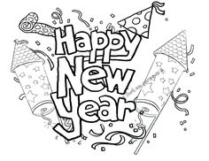 Happy New Year 31 Adult Coloring Pages Pinterest Free