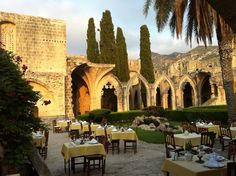 Kybele restaurant, northern Cyprus. Wonderful food in lovely surroundings of the old monastery
