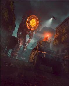 Weird Creatures, Fantasy Creatures, Horror Art, Horror Movies, Armas Airsoft, Dystopian Art, Scary Art, Fantasy Places, Cyberpunk Art