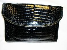 Listed On Malleries!! Donna Elissa Genuine Alligator Cross Body/clutch Bag