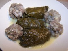 This has been passed down from my grandfather to my mother. It is a Greek recipe for stuffed grape leaves.
