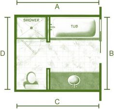 Small bathroom plans on pinterest bathroom floor plans for 7 x 4 bathroom designs