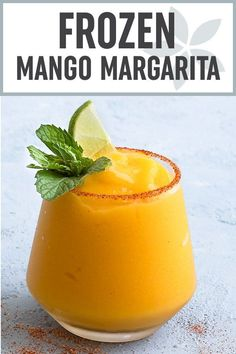 Frozen Mango Margarita - An easy homemade margarita ready in 5 minutes!! Mangoes, freshly squeezed lime juice, tequila, triple sec, and a touch of agave nectar come together to make the best summer cocktail! #cocktail #margarita #frozen #summer #drink via @easyasapplepie
