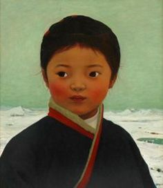 Xue Mo (Mongolian, born 1966) - Portrait Of Tong Tong