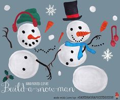 Do you wanna build a snowman?  Enjoying the cold weather.. Get creative with this diy snowman clipart pack :) #clipart #sandragraphicdesign #etsy #snowman #snow #christmas #design #graphicdesign #winter #designer #photoshop #creative