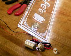 LED StandOffs illuminate laser etched plex