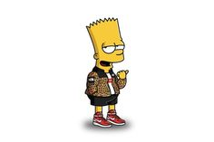 """""""The Simpsons"""" Characters Illustrated in Street Wear by Tommy Bates"""