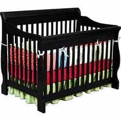 Delta - Canton 4-in-1 Convertible Crib, Black