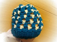 Cute baby slouchy hat  sparkly white & tealish by wasylko76, $20.00