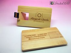 Pendrive Wood Card - By Margarete Rosales