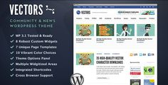 Vectors is a robust and capable community #WordPress theme planned and designed for use as a news, blog, industry news, or community them $35