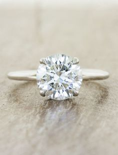 Aliss is a classic solitaire engagement ring by Ken + Dana Design.