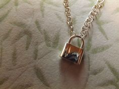Sterling Silver Padlock link Pendant Necklace by roxcraft on Etsy https://www.etsy.com/listing/212222141/sterling-silver-padlock-link-pendant