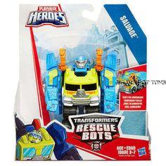 Playskool Heroes Transformers Rescue Bots SALVAGE the Construction-Bot Figure #Playskool