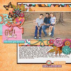 Digital Scrapbook Page by Ophelia | Hootie Pootie by Bella Gypsy Designs