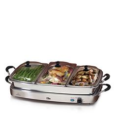 Elite Platinum by MaxiMatic Triple Buffet Server - Bloomingdale's Registry