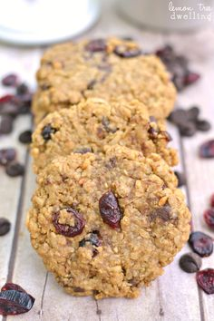 {Flourless} Chocolate Cranberry Coconut Monster Cookies