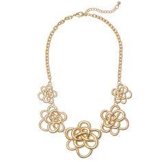 Budget friendly fashion; Jewliq golden bloom necklace
