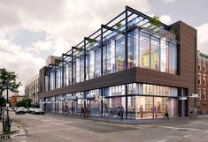 Here's a first look at Thor Equities' retail jewel box, replacing a gritty Williamsburg row. Office Building Architecture, Retail Architecture, Building Exterior, Building Facade, Commercial Architecture, Futuristic Architecture, Contemporary Architecture, Office Buildings, Office Building Plans