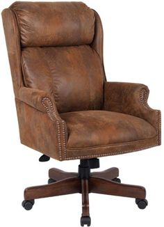 Good AFW has an amazing selection from Presidential Boss Office including the Centennial Oak Executive Chair Tobacco Microfiber in stock or quick ship