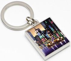 Bright Lights - Big City Keyring by Neil Dawson. Available from Artworx Gallery. www.artworx.co.uk