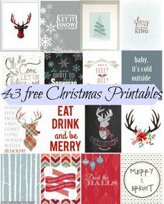 43 Free Christmas Printables