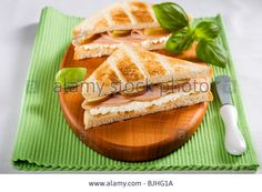 Toasted Turkey Ham And Pear Sandwiches Stock Photo, Picture And Royalty Free Image. Turkey Ham, Sandwich Toaster, Free Image, Pear, Sandwiches, Royalty, Stock Photos, Ethnic Recipes, Food