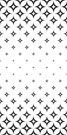 Monochrome seamless curved star pattern