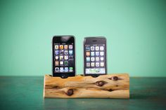iPhone 5 and iPhone 4 Dual docking station. $158.00, via Etsy.