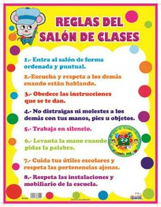 Spanish Classroom Decorations Rules of the class poster Spanish Classroom Decor, Bilingual Classroom, Classroom Walls, Classroom Language, Classroom Posters, Science Classroom, Foreign Language Teaching, Teaching Aids, Teaching Spanish