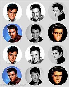 24 Precut Elvis Presley The King Edible Wafer Paper Cake