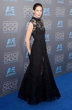 Michelle Monaghan seen in Elie Saab at the 2015 Critics Choice Awards #fashion