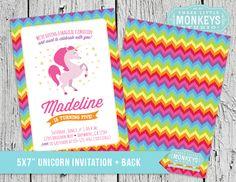 Madeline's Magical Unicorn Birthday Party - Three Little Monkeys Studio Unicorn Invitations, Printable Invitations, Birthday Party Invitations, Party Printables, Unicorn Birthday Parties, Unicorn Party, First Birthday Parties, 12th Birthday, Birthday Ideas