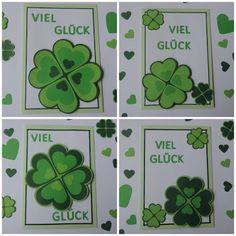 Viel Glück! Grußkarten mit Kleeblatt
